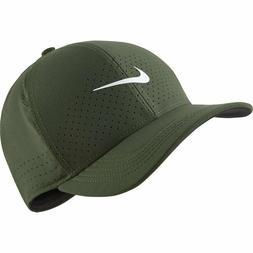 2019 Nike Mens AeroBill Classic 99 Fitted Golf Hat Green AV6