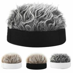 2020 Unisex Men Women Beanie Fake Spiked Flair Hair Hat Funn