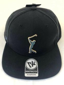 '47 FORTY SEVEN Captain PGA Tour Black Acrylic Wool Snapback