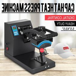 """7"""" x 3.75"""" Cap Hat Heat Press Transfer Sublimation Machine S"""