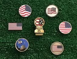 🇺🇸 American Flag Golf Ball Markers And Magnetic Hat Cl