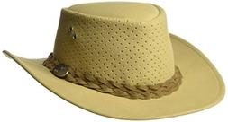 Bushie Perforated Hats Soft Ultra Light Chamois Fabric Will