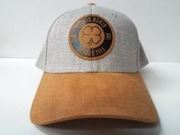 Black Clover Cap BC Style #2 Stretch Fit  Heathered Gray Gol