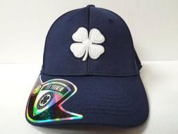 Black Clover Cap Lucky Heather Navy Blue Stretch Fit Golf Ha