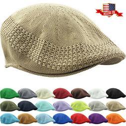Classic Mesh Ivy Newsboy Ivy Cap Hat Crochet Driving Golf Ve