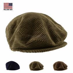 Cotton Velvet Corduroy Gatsby Golf Newsboy Cabbie Cap Hat Me