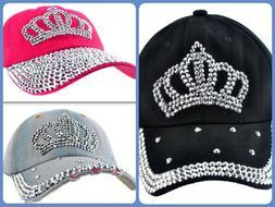 Crown Vintage Golf Womens Baseball Caps Mens Hats Rhinestone