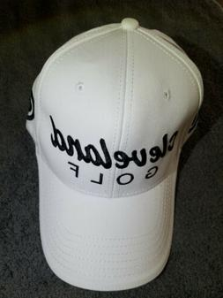 Cleveland Golf Fitted Hat White w/ Black Writing Size 7 1/4