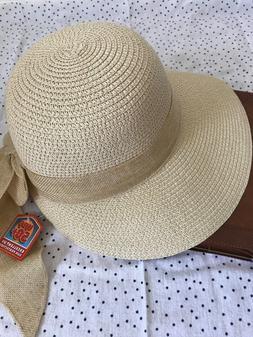 Floppy-Brim-with-Ribbon-Women-Folding-Summer-Beach-Sun-Straw