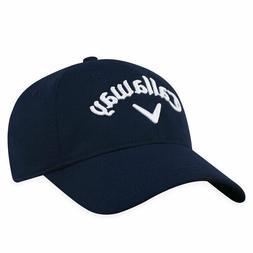 CALLAWAY GOLF STRETCH FITTED CAP / HAT SIZE: S/M NAVY A-FLEX