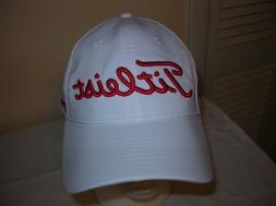 Titleist Golf  Ball Cap Adjustable White with Red  Men's Gol
