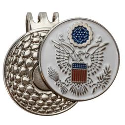 Golf ball marker with magnetic hat clip : Great Seal of the