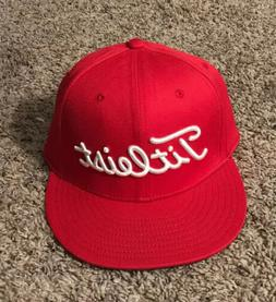 Titleist Golf Fitted Hat Red S/M