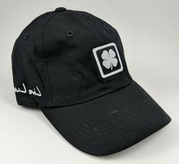 Black Clover Golf Hat ~ Black Adjustable Baseball Cap ~ 100%