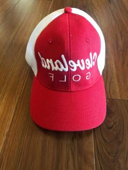 Cleveland Golf Hat Cap Red White Embroidery perfect fit 4 wa
