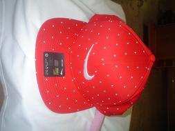 golf pro snapback hat cap red white