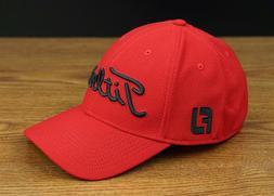 Titleist Golf Tour Elite Staff Fitted Hat Cap Red Black XL/X