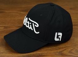 Titleist Golf Tour Elite Staff Fitted Hat Cap Black White XL