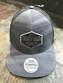 Hat Cap Grand Targhee Wyoming Gray Mid Pro Brim Snapback ski