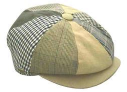 Epoch Hats 100% Cotton Patchwork Newsboy Low Profile Golf Ca