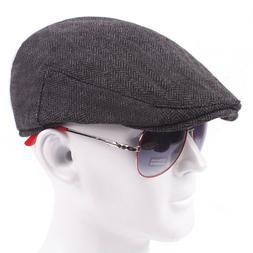 Herringbone Ivy Hat Wool Retro Gatsby Cap Golf Driving Flat