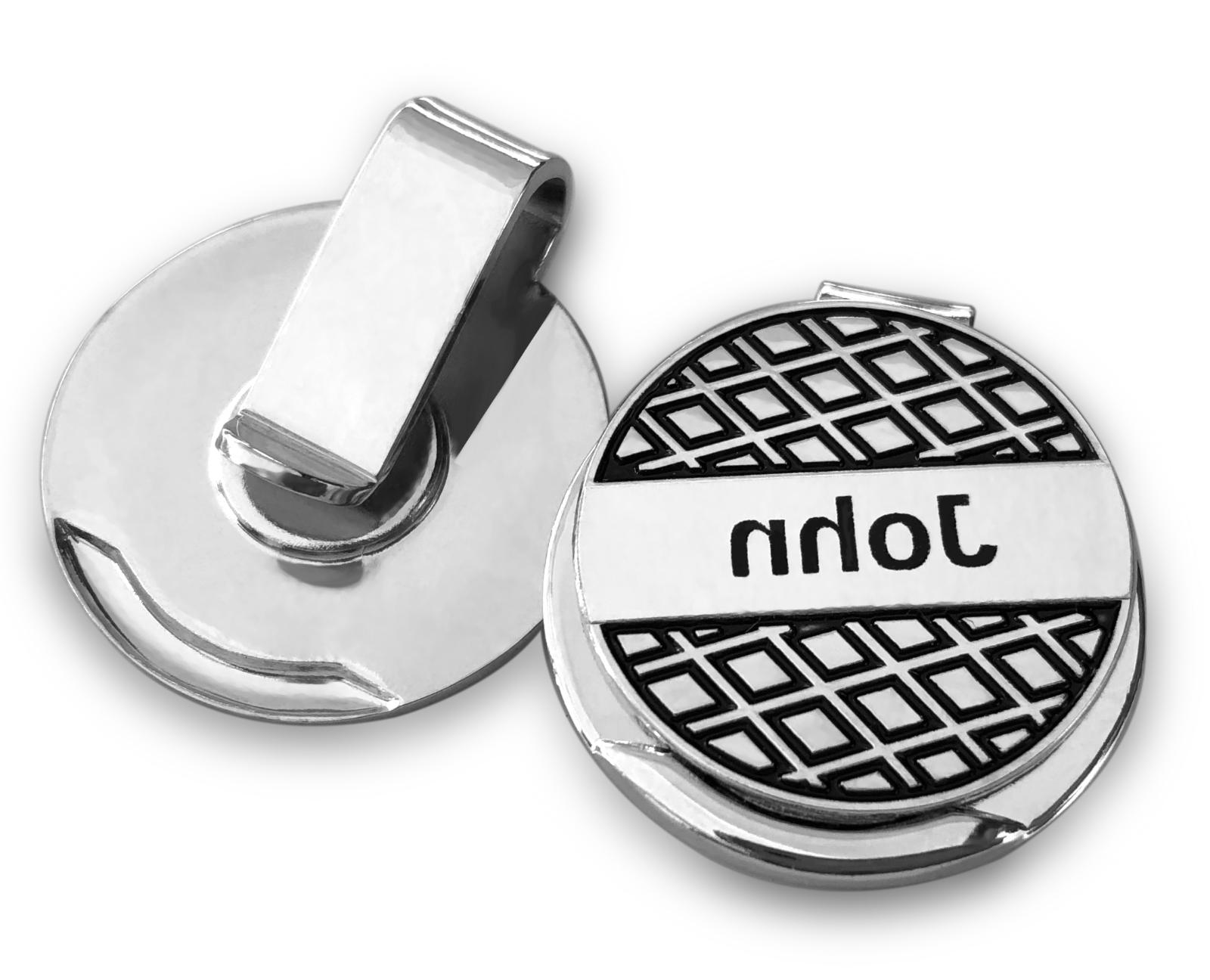2 personalized golf ball marker and hat