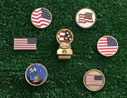american flag golf ball markers and magnetic
