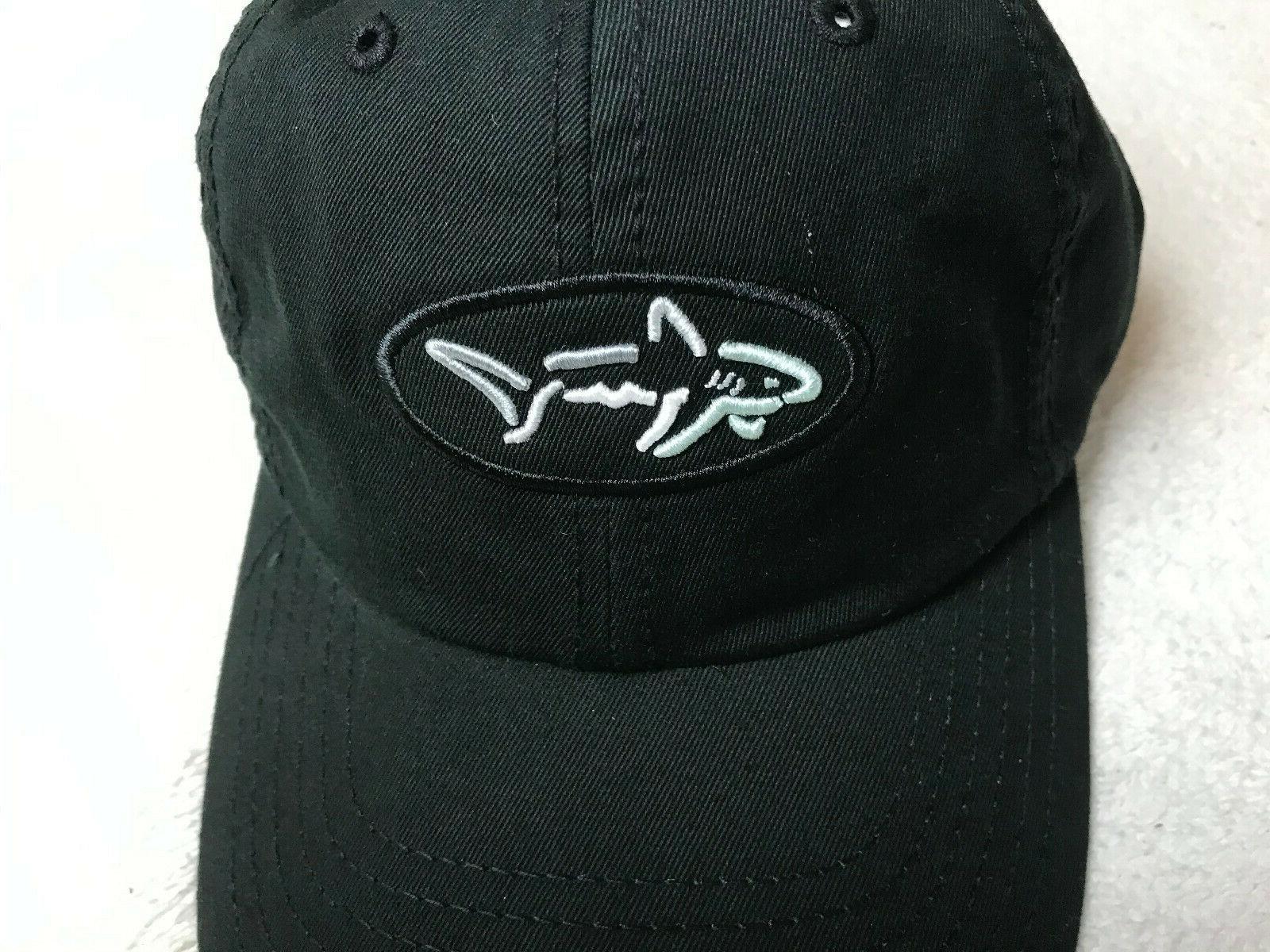 Greg Collection Shark Embroidered Hat Adjustable Black