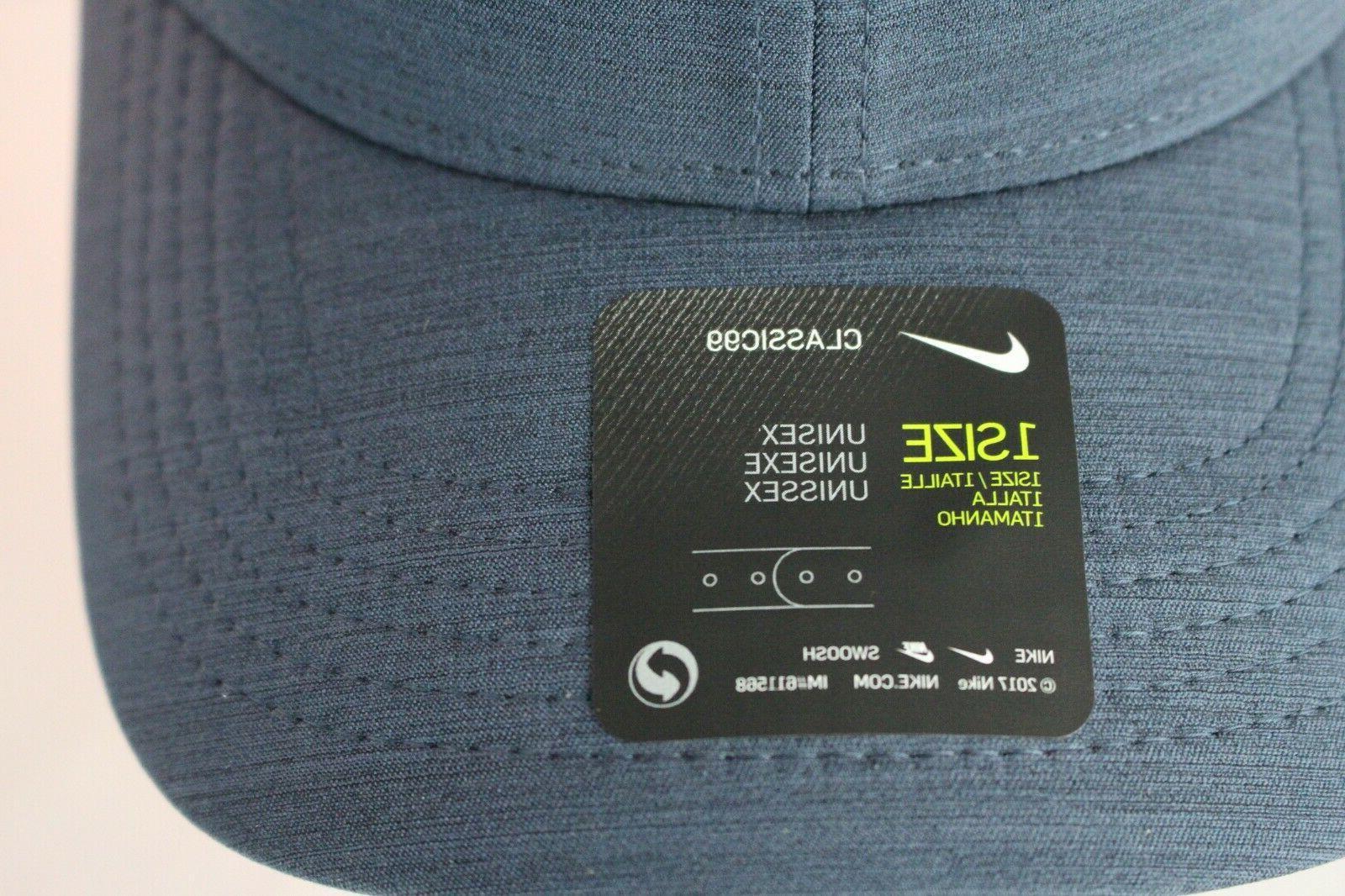NIKE GOLF AeroBill DriFit Snapback Golf Hat Cap Obisdian