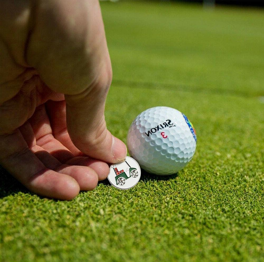 Golf Ball Markers of Fits Kinds Magnetic Clips Divot