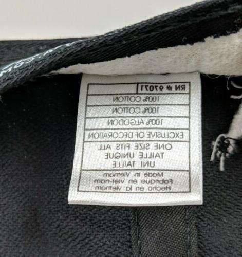 Black Clover Golf ~ Black Adjustable Cap 100% ~ Live