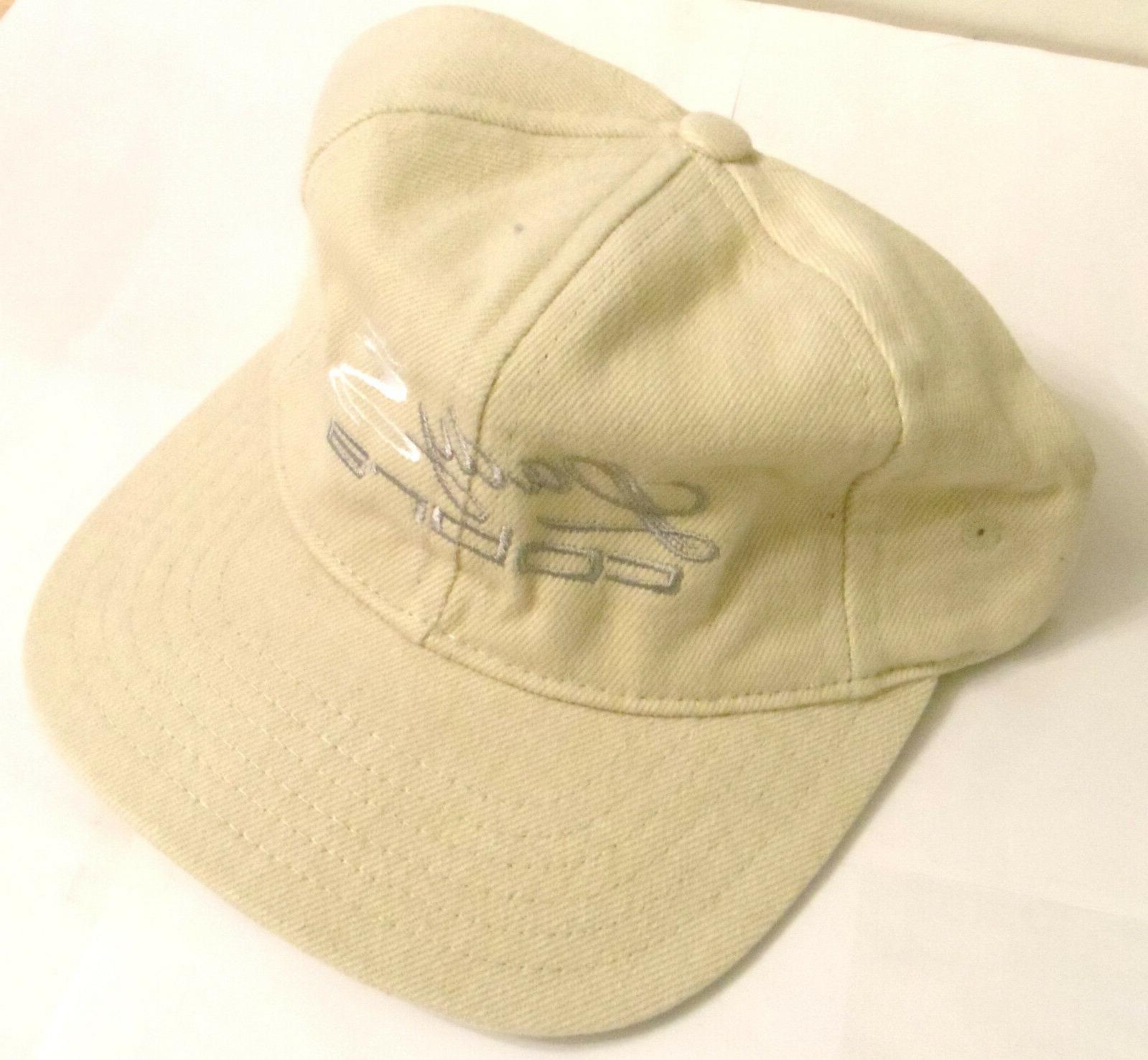 lady hat off white denim material adjustable