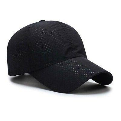 Men Summer Mesh Plain Curved Casual Cap