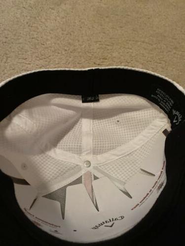Mens Flex Stretch Hat: L/XL Red And White