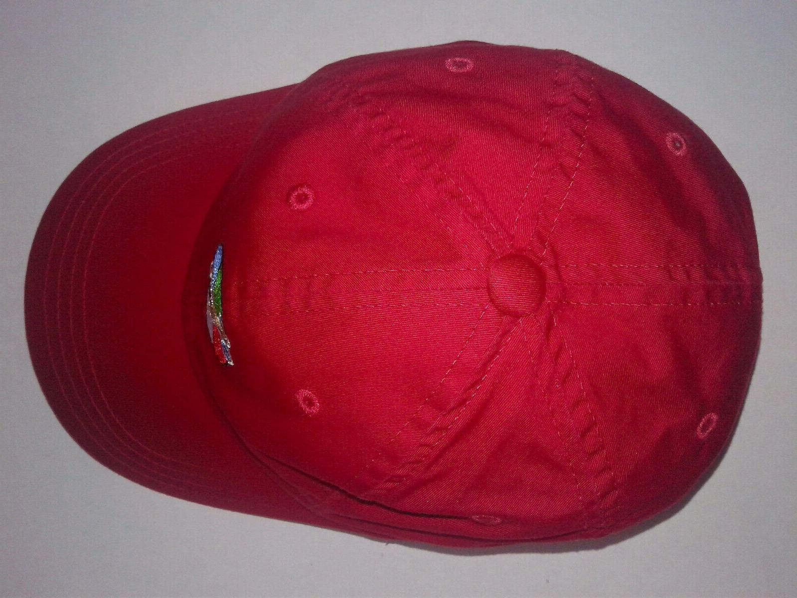NEW! GOLF COURSE AMERICAN RED BASEBALL CAP HAT