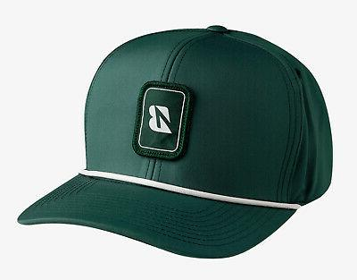 new golf rope collection green white snapback