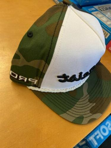 NEW Limited Woodland Camo Flat Bill Adjustable Golf Hat