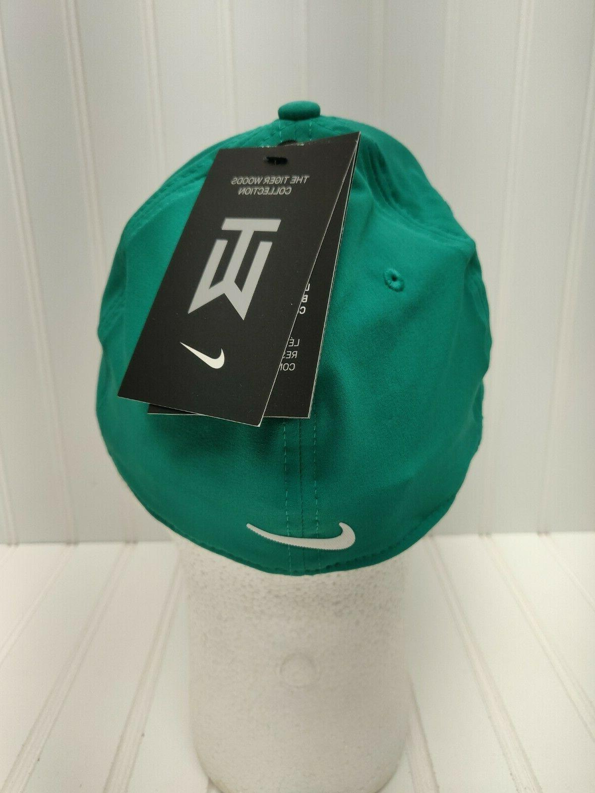 NWT Tiger Woods Flex Cap Hat Green
