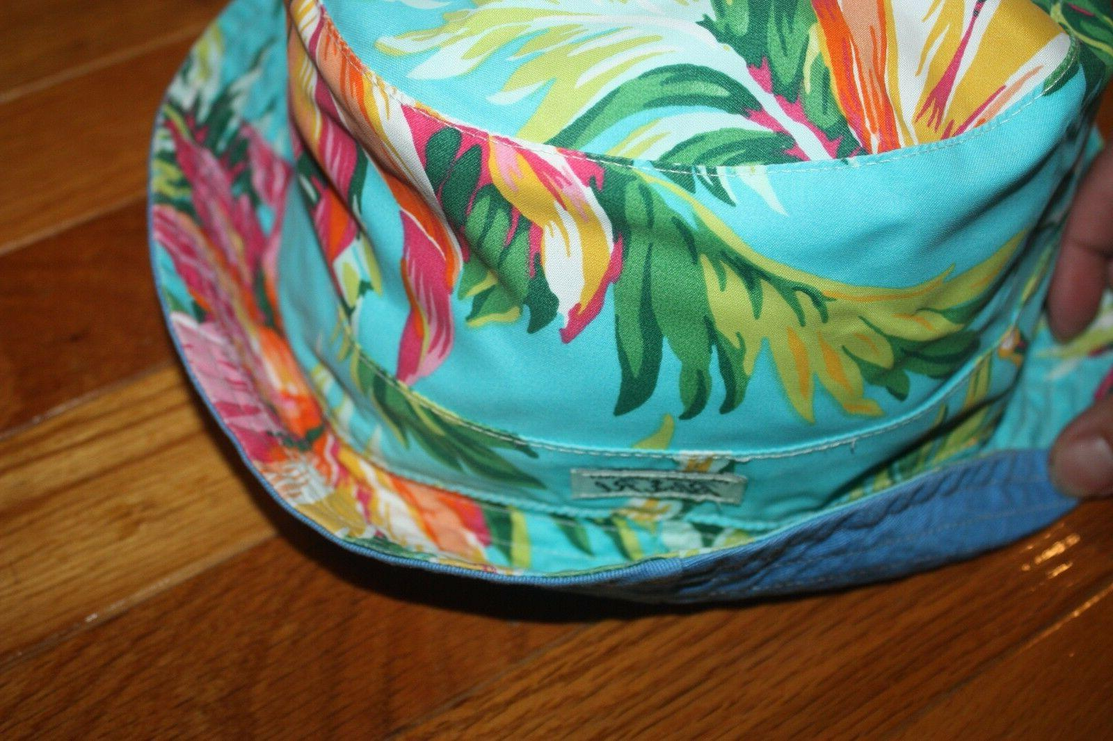 NWT Polo Ralph Reversible Palm Bucket Hat