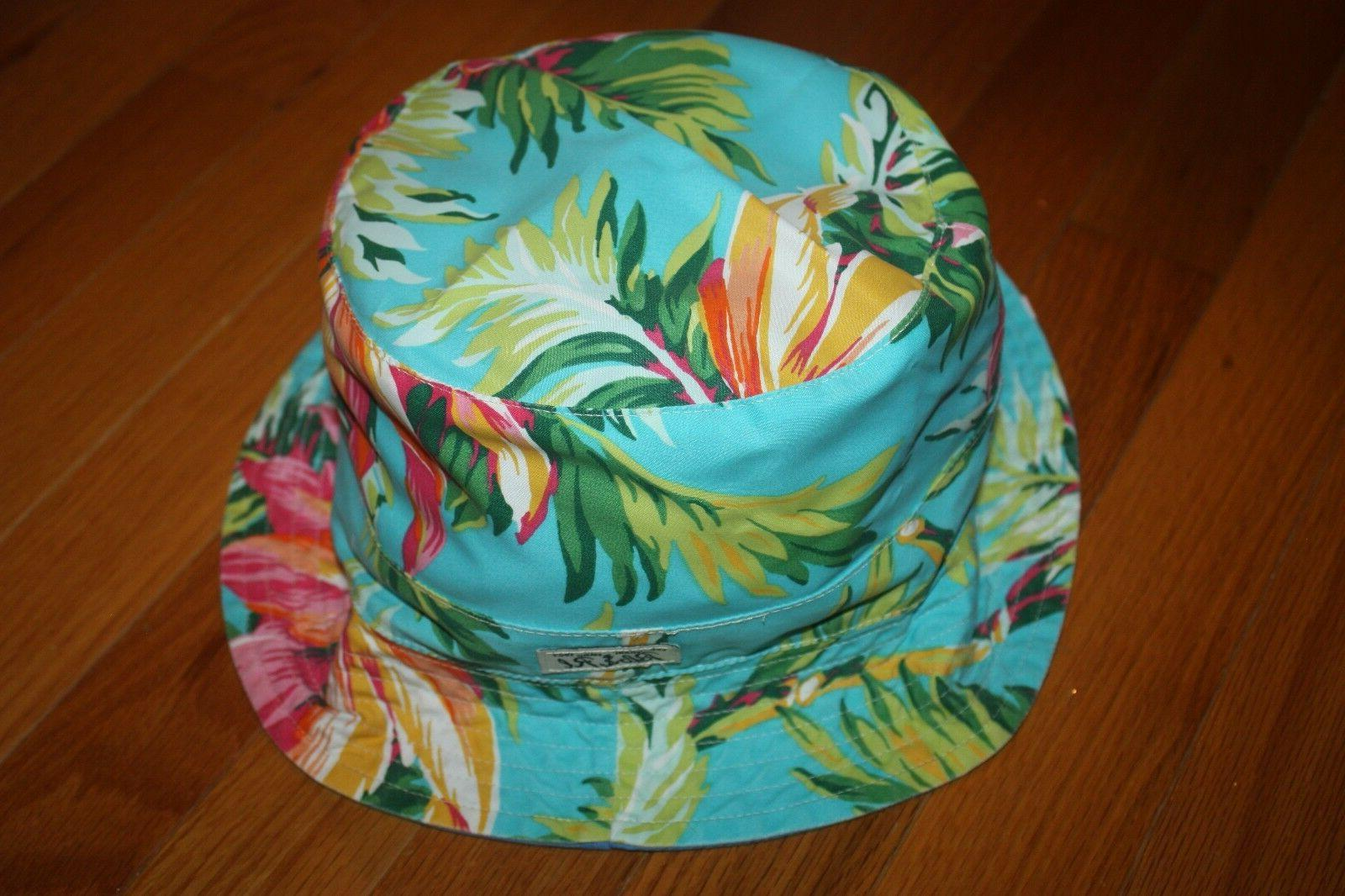 NWT Polo Ralph Reversible Floral Bucket Hat