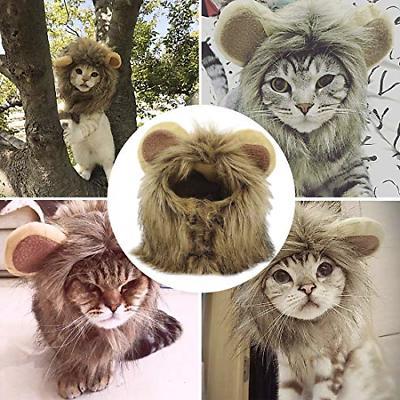 pet costume cosplay lion mane wig cap