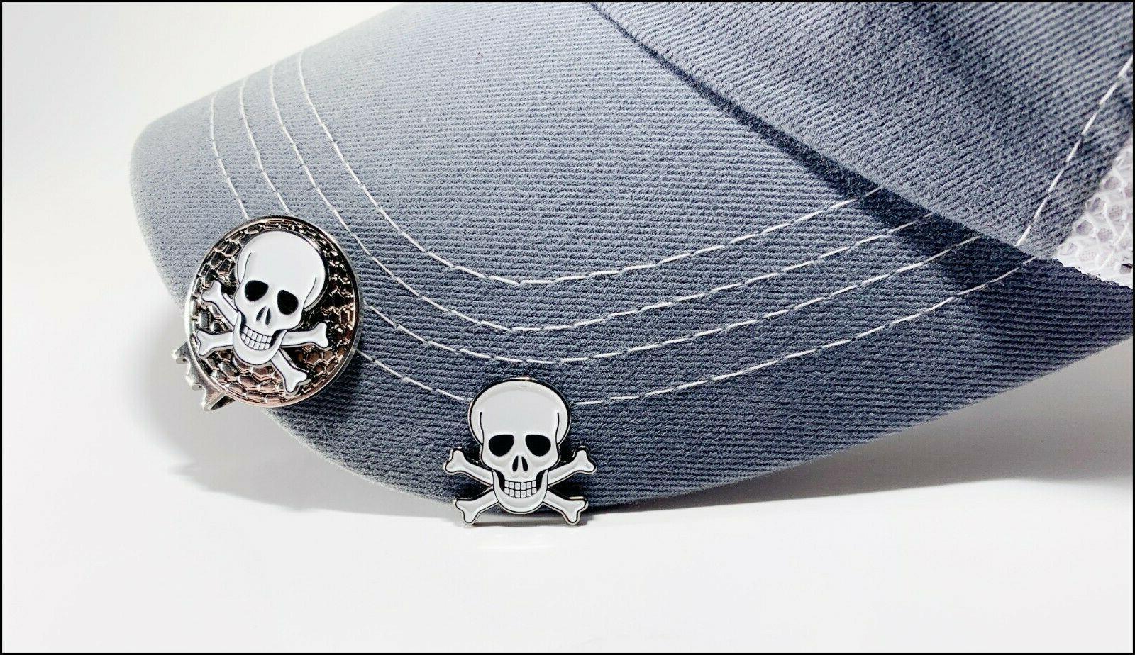 skull and crossbones golf ball marker 2