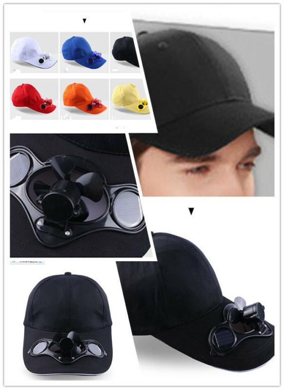 summer sport outdoor hat cap with solar