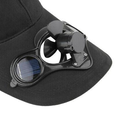 Summer Outdoor Hat Cap with Solar Power Cycling