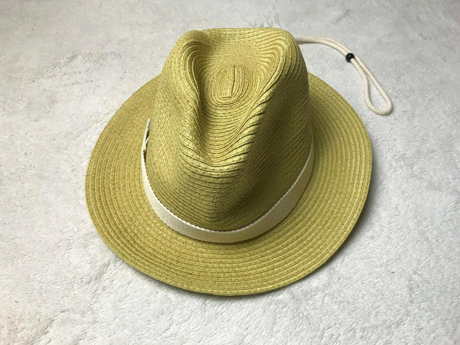 the shark embroidered straw golf hat natural