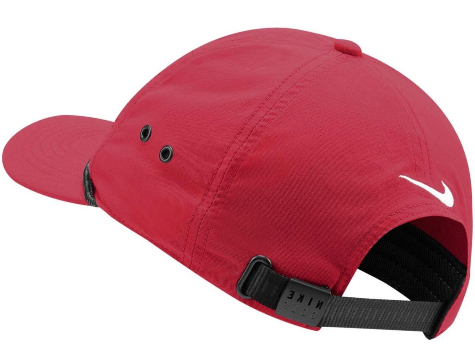 Nike Unisex Golf Classic Hat DRI-FIT Cap Red/White BV8229