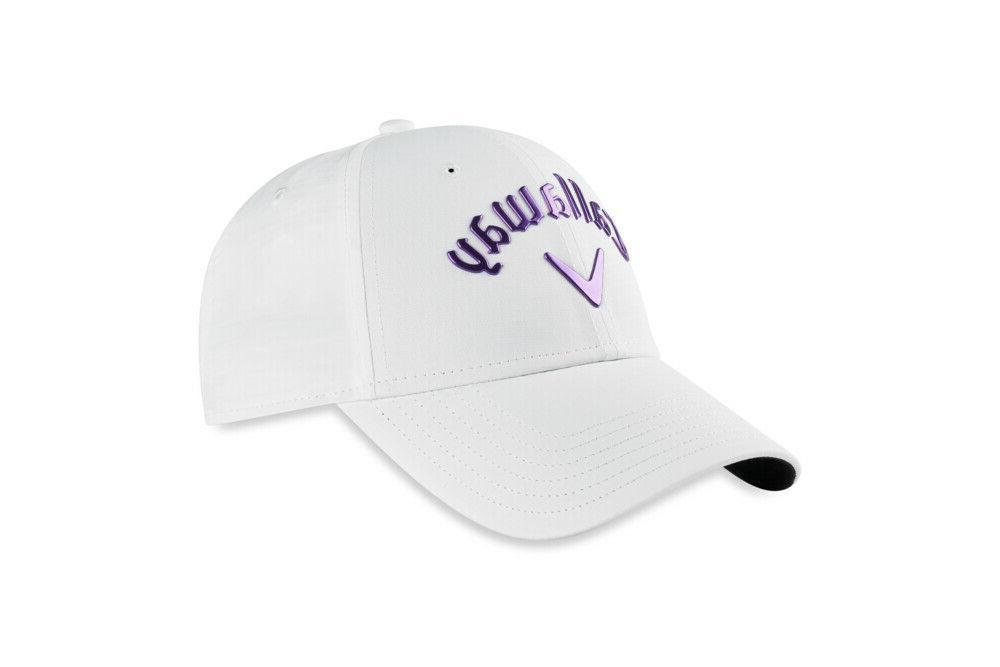 w liquid metal cap white purple ladies
