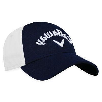 women s adjustable heathered golf hat navy