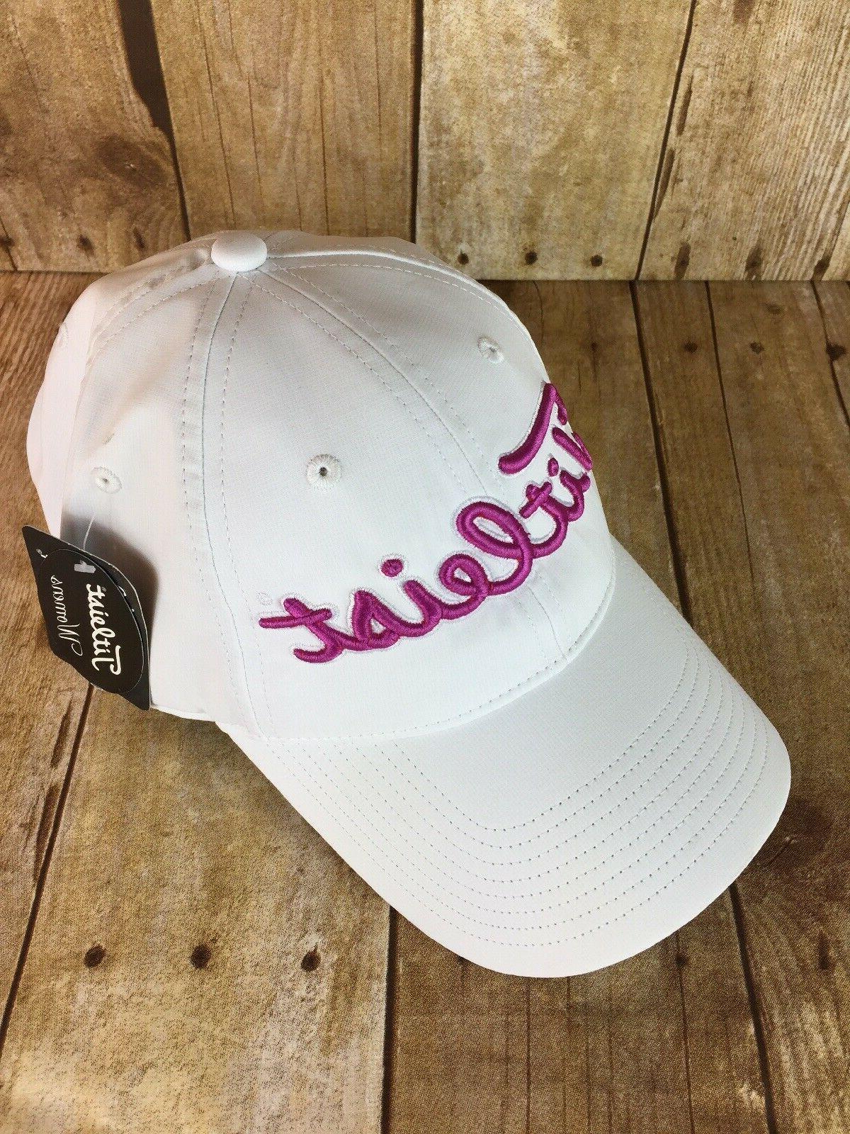 women s golf hat white pink cap