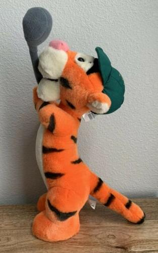 world golfer tigger plush stuffed animal golf